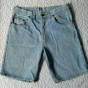 Vintage Stanley Blacker 32 Light Wash Denim Shorts